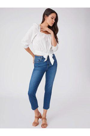 Paige Denim Paige Sarah Slim Crop Raw Hem Jeans Starcrossed