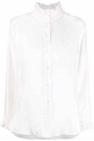 Sandro Women Blouses - Haby ruffle-detail silk blouse