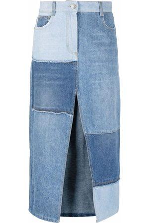 Pinko Women Denim Skirts - Patchwork denim skirt