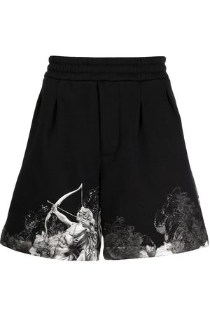 Emporio Armani Cupid graphic-hem shorts