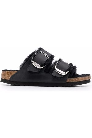 Birkenstock Women Sandals - Shearling-lined double-strap sandals