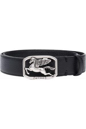 Etro Men Belts - Logo plaque belt