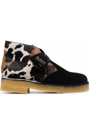 Clarks Women Ankle Boots - Animal-print leather ankle boots