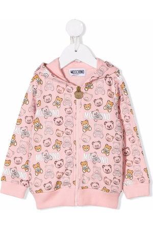 Moschino Teddy Bear print zip-up hoodie