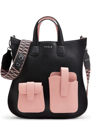 Thale Blanc Gisele Medium Tote: Designer Tote Bag in Pink & Leather