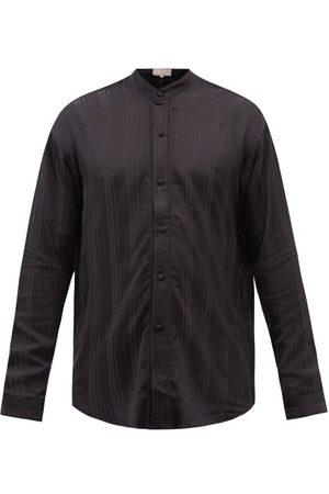 SMR Days Tulum Jacquard-striped Bamboo-blend Twill Shirt - Mens