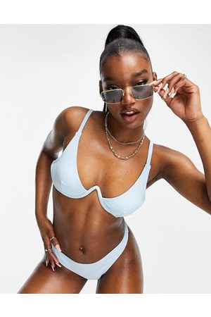 ASOS Mix and match towelling v underwired bikini top in
