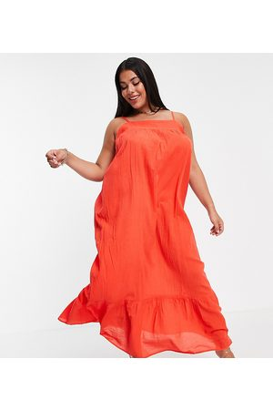 ASOS ASOS DESIGN Curve tiered maxi beach dress in