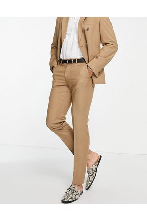 ASOS Men Formal Pants - Slim suit pants in camel-Neutral
