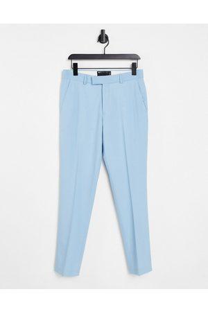 ASOS Wedding skinny smart pants in sky blue