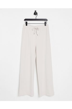 In Wear Vincenti co-ord jersey wide leg trackies in off white