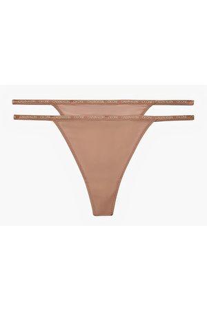 Calvin Klein Women Lingerie Thongs - Thong 2 Pack Honey Almond