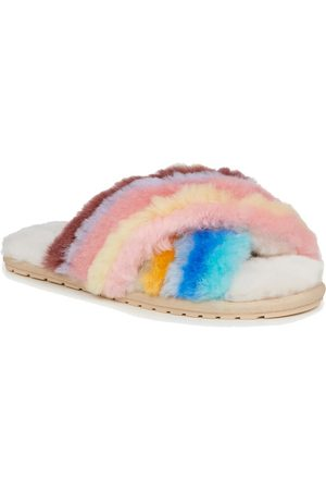 Emu Australia EMU Mayberry Rainbow Crossover Sheepskin Slipper Slide