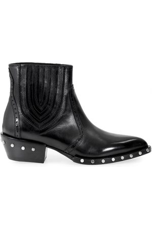 Barracuda WOMEN'S BD0630 LEATHER ANKLE BOOTS
