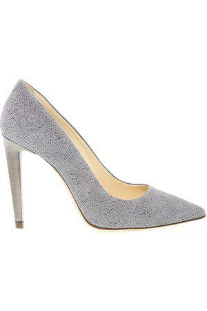 Fabi Women Heels - WOMEN'S 2336GREY LEATHER PUMPS