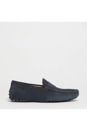 Tod's Moccasin Rubber In Suede With New Threading