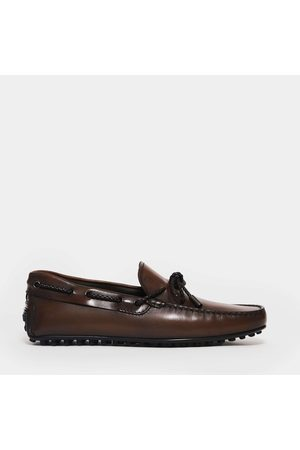 Tod's Moccasin City Rubber 42C Leather Strap And Braided