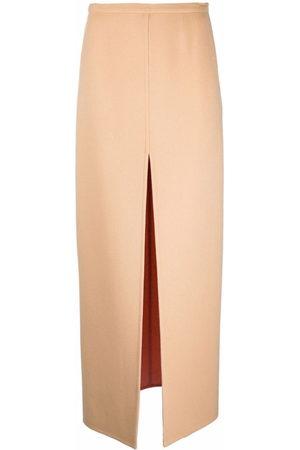 Emilio Pucci Women Maxi Skirts - Double-faced split maxi skirt
