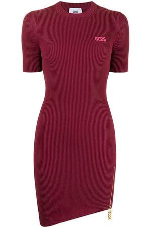 GCDS Short-sleeve asymmetric T-shirt dress