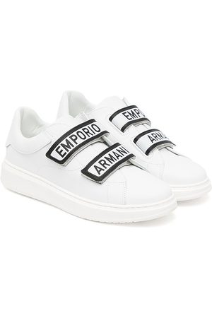Emporio Armani Sneakers - Touch-strap leather sneakers