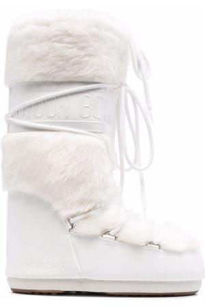 Moon Boot Faux-fur trim snow boots