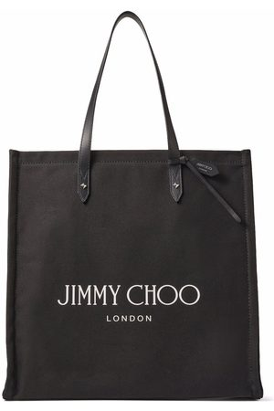 Jimmy Choo Logo-print canvas tote bag
