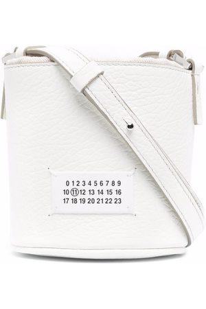 Maison Margiela Pebbled-leather bucket bag