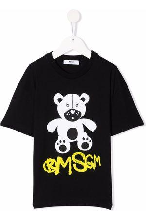 Msgm Girls Short Sleeve - Teddy bear print T-shirt