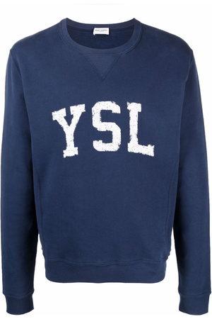 Saint Laurent Logo-print cotton sweatshirt