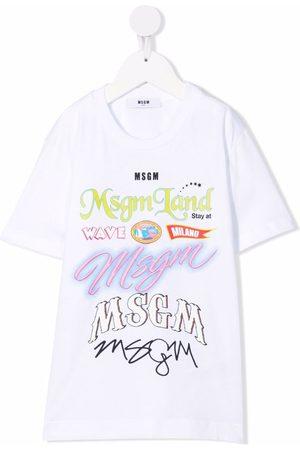 Msgm Boys Short Sleeve - Graphic slogan t-shirt