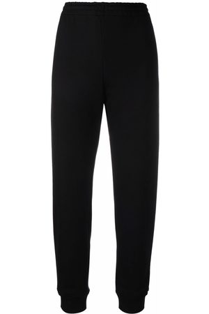 Moschino High-waisted cotton track pants