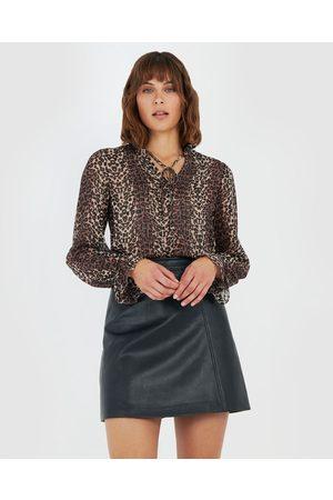 Forcast Women Blouses - Samara Pin Tuck Blouse - Tops (Multi) Samara Pin-Tuck Blouse