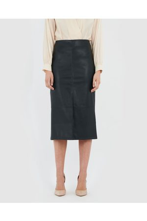 Forcast Luciana Faux Leather Skirt - Leather skirts Luciana Faux Leather Skirt