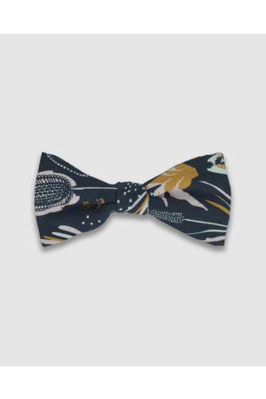 Peggy and Finn Coastal Flora Bow Tie - Ties & Cufflinks (Navy) Coastal Flora Bow Tie