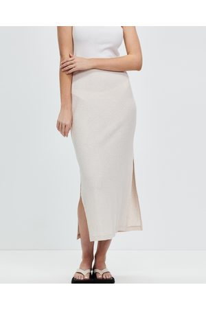 Nude Lucy Women Midi Skirts - Bowie Textured Midi Skirt - Skirts (Oat) Bowie Textured Midi Skirt