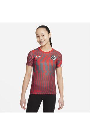 Nike Short Sleeve - Eintracht Frankfurt Older Kids' Pre-Match Short-Sleeve Football Top