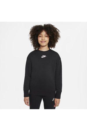Nike Girls Sweatshirts - Sportswear Club Fleece Older Kids' (Girls') Crew Sweatshirt