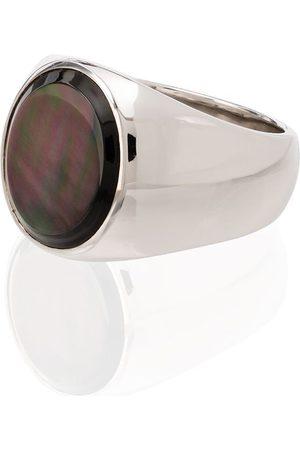 TOM WOOD Men Rings - Sterling silver mother-of-pearl ring
