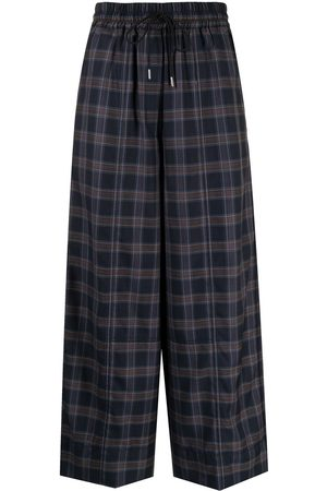 Paul Smith Checked wide leg trousers