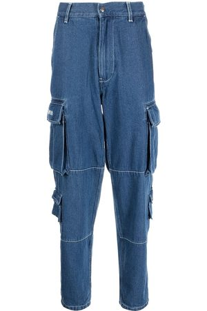A Bathing Ape Men Straight - Denim cargo-pocket jeans