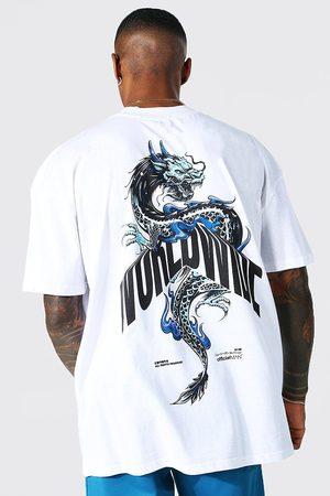 Boohoo Men Short Sleeve - Mens Oversized Back Print Extended Neck T-shirt