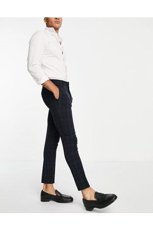 ASOS Men Formal Pants - Super skinny suit pants in blackwatch tartan
