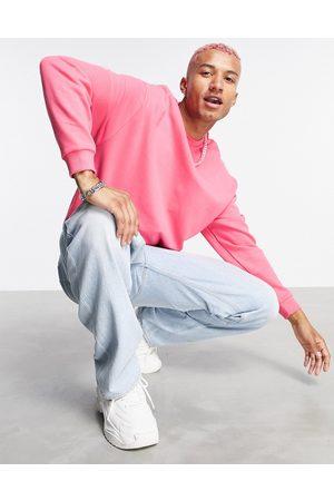 ASOS Co-ord oversized sweatshirt in pink