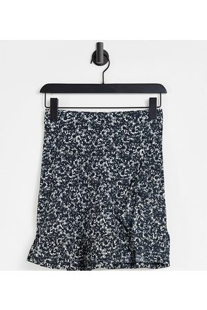 Topshop Tall Printed jersey flippy skirt