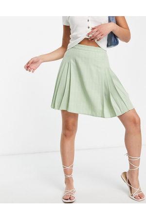 Lola May Women Mini Skirts - Pleated tennis mini skirt in