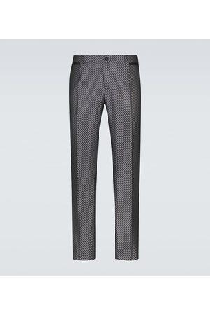 Dolce & Gabbana Men Formal Pants - Formal silk-blend pants