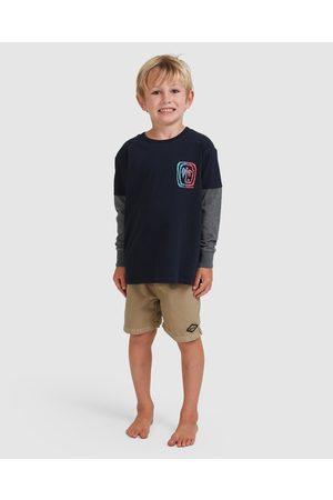 Billabong Boys Short Sleeve - Boys 0 7 Maze Tee - Short Sleeve T-Shirts (NAVY) Boys 0 7 Maze Tee
