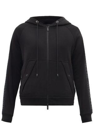 Moncler Logo-tape Zip-through Cotton-jersey Sweatshirt - Mens