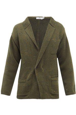 Inis Me in Shawl-collar Merino Wool And Cashmere Cardigan - Mens - Khaki