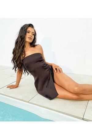 South Beach Women Beach Dresses - X Natalya Wright Exclusive thigh split mini beach dress in